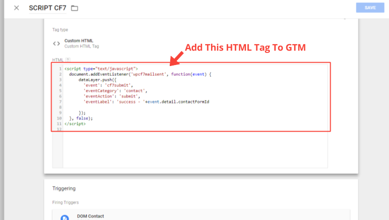 Track Contact Form Submissions With GTM