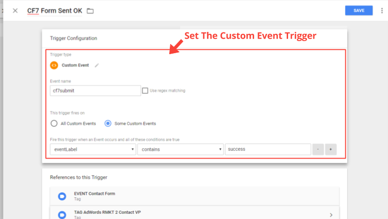 Add GTM Trigger For Contact Form 7 Success